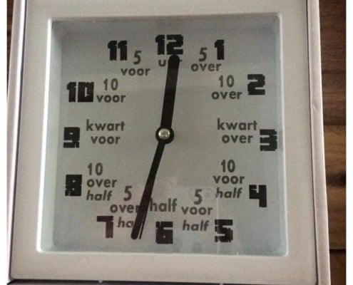 Tekstkado klokje - leren klok kijken
