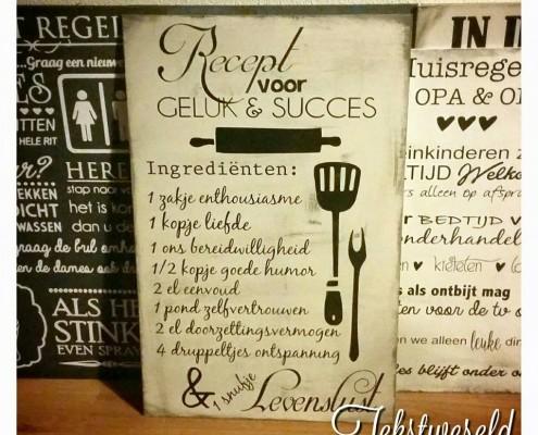 Tekstbord-recept